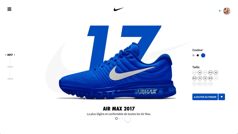 Vidéo refonte e-commerce Nike Air max