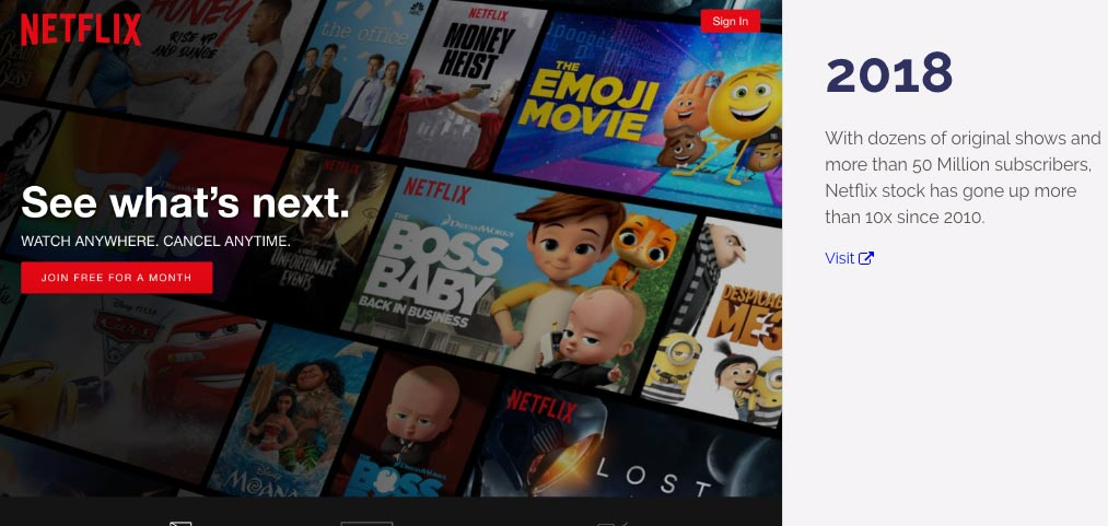 Museum of Websites Netflix